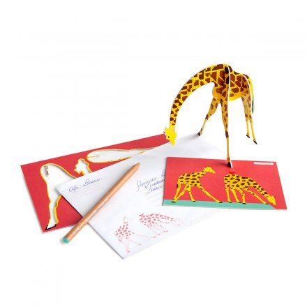 Studio ROOF Pop Out Karte Giraffe