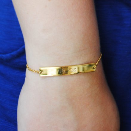 Armband Girlpower gold