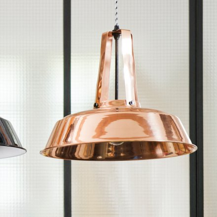 HKliving Deckenlampe Workshop Copper L