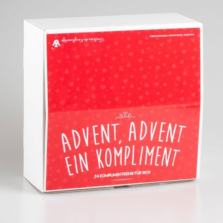 Komplimente-Keksbox Advent, Advent