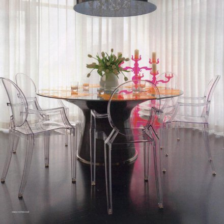 kartell stuhl louis ghost 2er set glasklar. Black Bedroom Furniture Sets. Home Design Ideas
