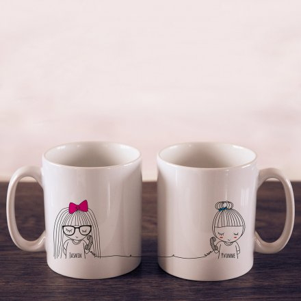 Personello Exklusive Personalisierbare Tasse - Long Distance rechts