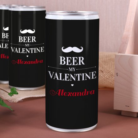 personalisierbare 1l dose valentins bier online kaufen. Black Bedroom Furniture Sets. Home Design Ideas