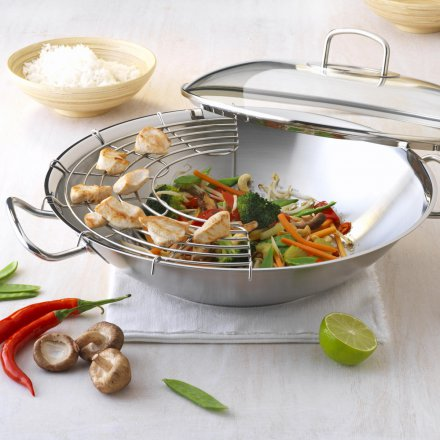 Fissler original-profi collection Wok mit Glasdeckel 35cm