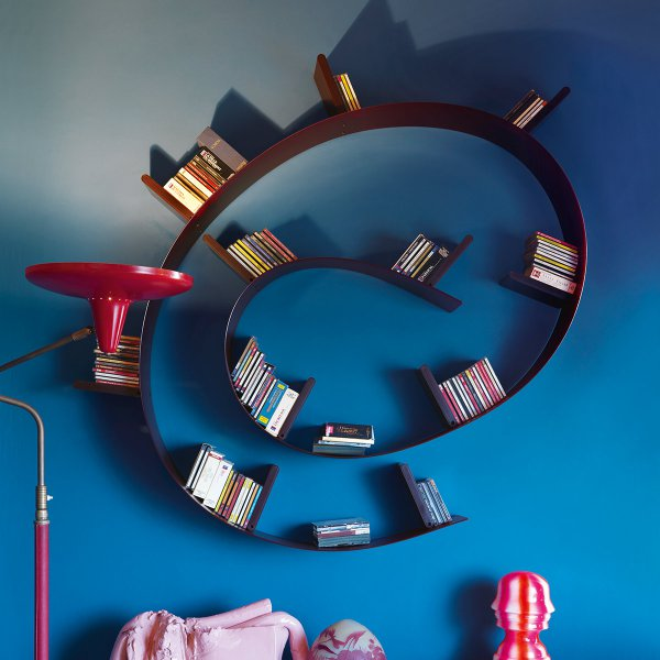 Kartell b cherregal bookworm kurz 7er wei for Design 3000 de