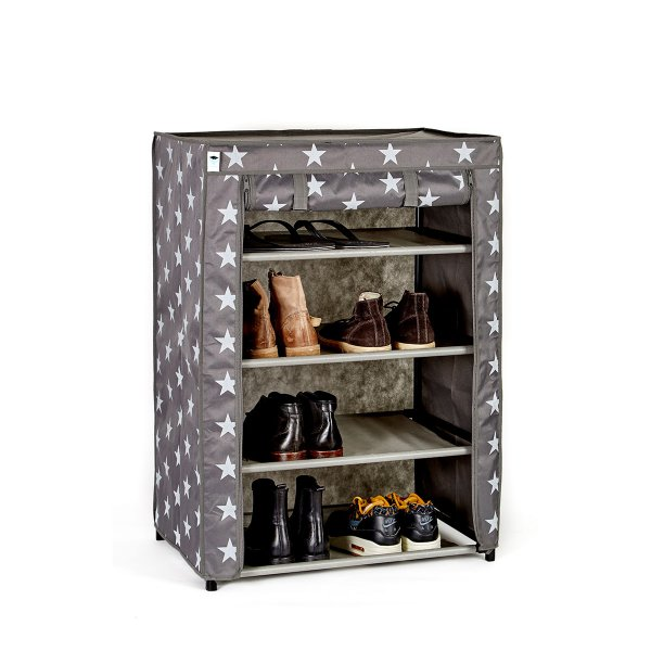 store t textil schuhschrank sterne grau klein online kaufen online shop. Black Bedroom Furniture Sets. Home Design Ideas