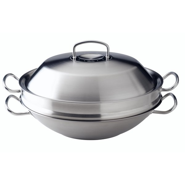 fissler original profi collection wok d mpfeinsatz satiniert 35cm online kaufen. Black Bedroom Furniture Sets. Home Design Ideas