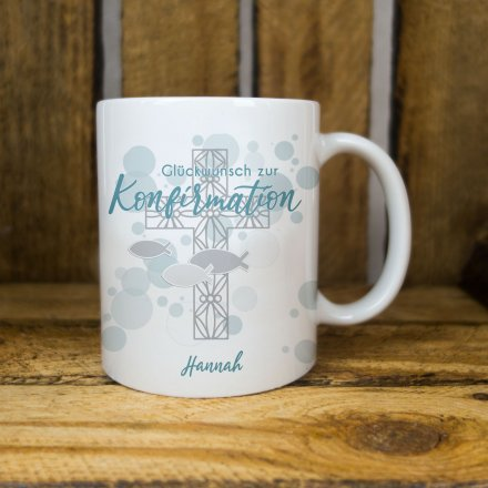 Tasse zur Konfirmation mit Name