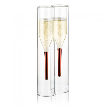 Thumbs Up Champagner Flöte Inside Out 2er-Set
