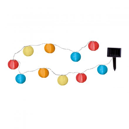LED-Solarlichterkette Ball Multi