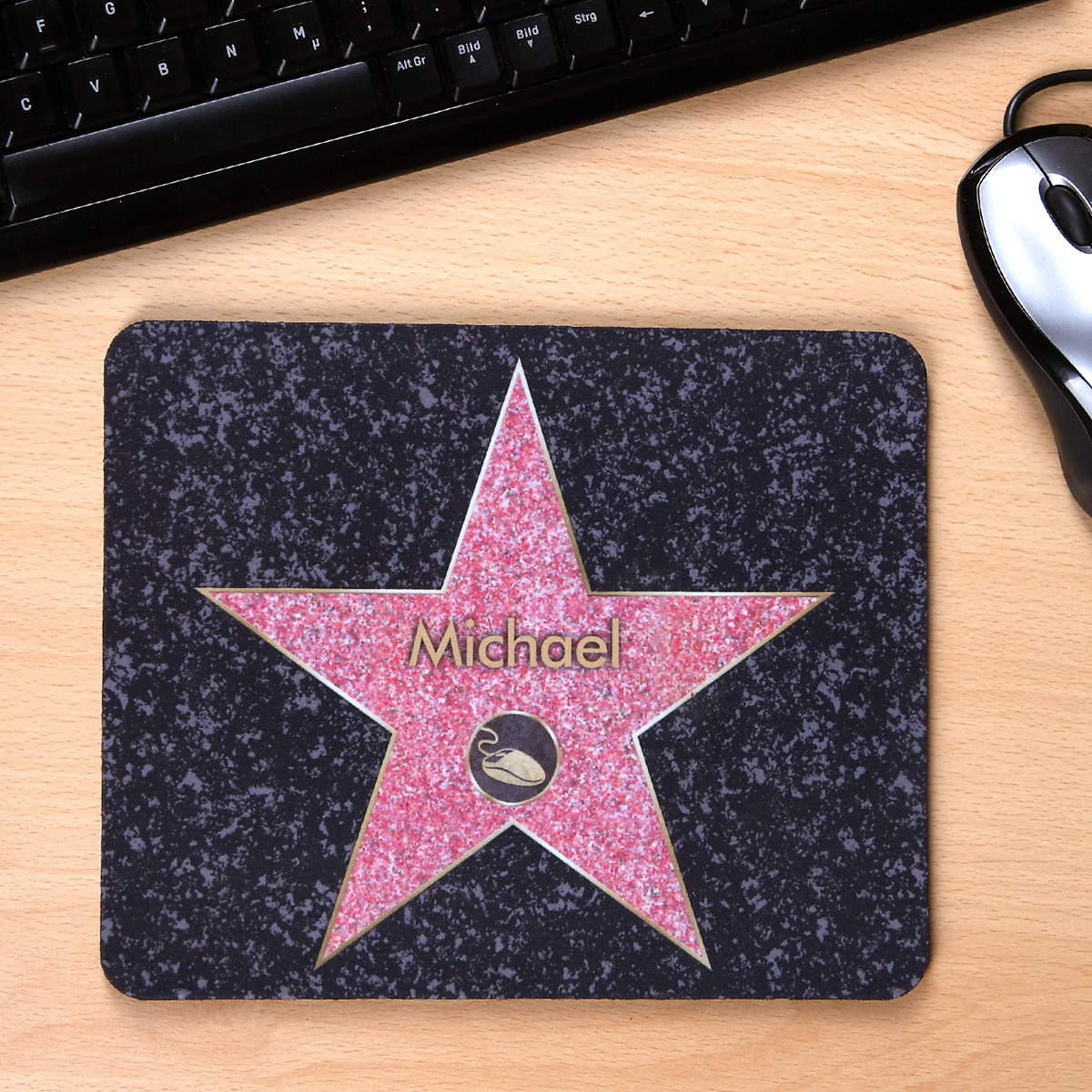 personalisierbares mousepad walk of fame. Black Bedroom Furniture Sets. Home Design Ideas