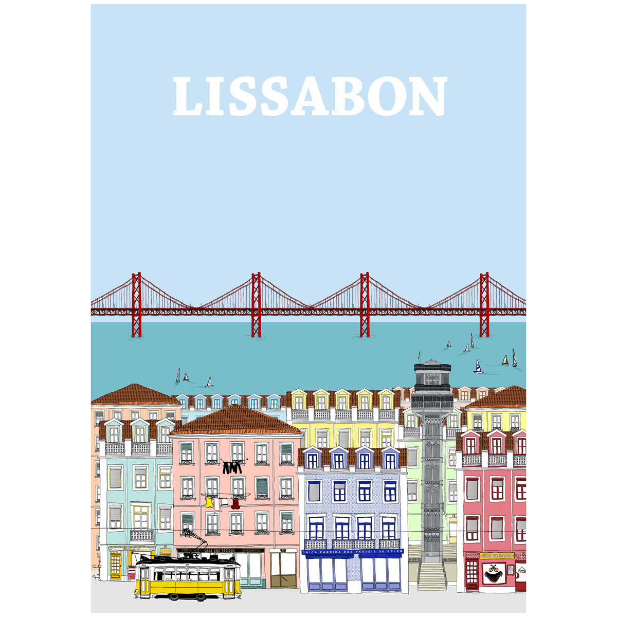 Poster lissabon for Design 3000 de