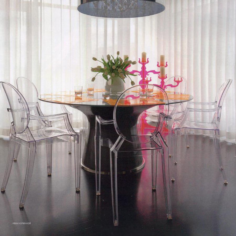 kartell stuhl louis ghost glasklar. Black Bedroom Furniture Sets. Home Design Ideas